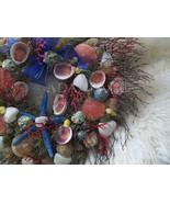REDUCED Tropical Wreath Seashells Starfish Swirl Huck Wreath~Beach Chic~... - $139.00