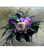 Flower Girl Basket Trinket Floral Arrangement 4 Tiny Tots~Purple Pink Po... - $39.00