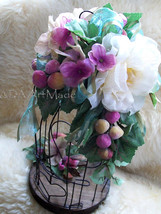 Bird Cage Floral Wedding Card Holder Centerpiece Silk Flowers, Customize... - $75.00