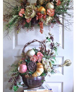 Corner Bistro Floral Arrangement Dual Function Gourmet Style Handmade St... - $395.00