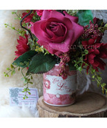 Silk Floral Arrangement Vintage Style Love Mug Any Occasion Sweetheart B... - $55.00