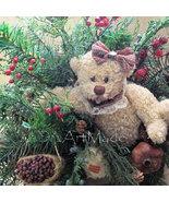 Country Bear Arrangement Winter Season Mix Faux Evergreens, Fake  Raspbe... - $69.00