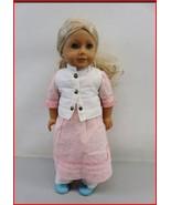 "American Girl 18"" Doll Caroline blonde curly hair, blue eyes- Retired - $99.00"