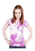 Famous Stars & Straps Womens Juniors Pink Emily Tiger Print T-Shirt NWT