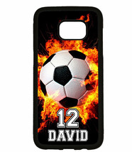 PERSONALIZED NAME NUMBER SOCCER BALL CUSTOM PHONE Case For Samsung Galax... - $11.99+