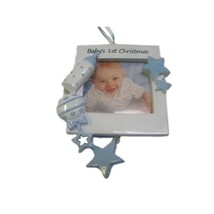 BABY'S BOY'S FIRST CHRISTMAS FRAME PERSONALIZED CHRISTMAS ORNAMENT NEW G... - $12.80