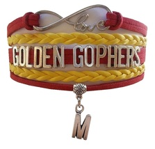 University of Minnesota Golden Gophers Fan Shop Infinity Bracelet Jewelry - $12.99