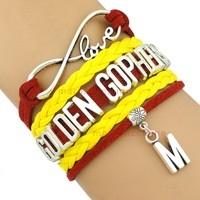 University of Minnesota Golden Gophers Fan Shop Infinity Bracelet Jewelry