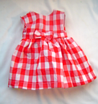 """Our Generation 18"""" Dolls Red and White Checked Gingham Dress Outfit  - $10.99"""