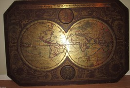 """1964 MASKETEERS OLD WORLD MAP, 1600's MAP STYLE 44"""" x 30""""  - $154.60"""