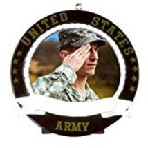 Army Picture Frame Personalized Christmas Tree Ornament Soldier Gift Pre... - $9.83