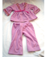"American Girl 18"" Dolls Lavender Butterflies Lounge Pajama Top and Pants... - $12.99"