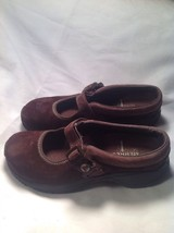Merrell Brown Suede Ortholite Q Form Air Cushion Mary Jane Mules SZ 5.5M image 4