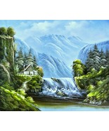 """R.Boren-""""Majestic View""""-Original Oil Painting/Canvas, Hand Signed by the... - $128.25"""