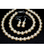 Champagne Pearl Bridal Set jewelry - $30.00