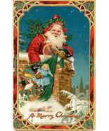 Merry Christmas Frances Brundage vintage Post Card   - $20.00