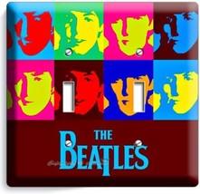 The Beatles Pop Art John George Paul Ringo Double Light Switch Cover Room Decor - $9.71