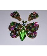Vintage Butterfly Demi-Parure -  Brooch & Earrings - $34.95