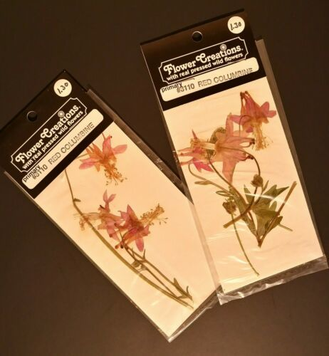 Intermountain Giftmakers Flower Creations  Real Pressed Wild Flowers Lot Of 11