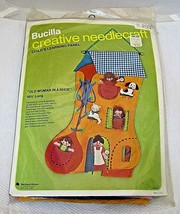 Older Bucilla Needlecraft Kit Never Opened Old Woman in A Shoe Kit No 2122 - $34.16