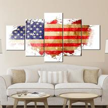 5 Piece American Flag Canvas Wall Art Modern Picture Painting Print Home... - £18.70 GBP+