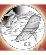2017 PILOT WHALE - Sterling SILVER Proof Coin - South Georgia & Sandwich Islands - $69.00