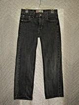 Levi's 550 Boy's Relaxed Black Jeans 29x29 18 Reg Denim Pants Faded Black - $18.81