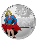 $10 1/2 oz Fine Silver Coin - DC Comics Supergirl Strength (2015) - $85.00