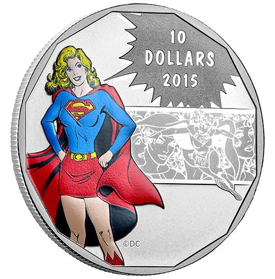 $10 1/2 oz Fine Silver Coin - DC Comics Supergirl Strength (2015)