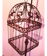 ANTIQUE Bird Cage with Solid Base Handmade Authentic RARE** - £304.33 GBP