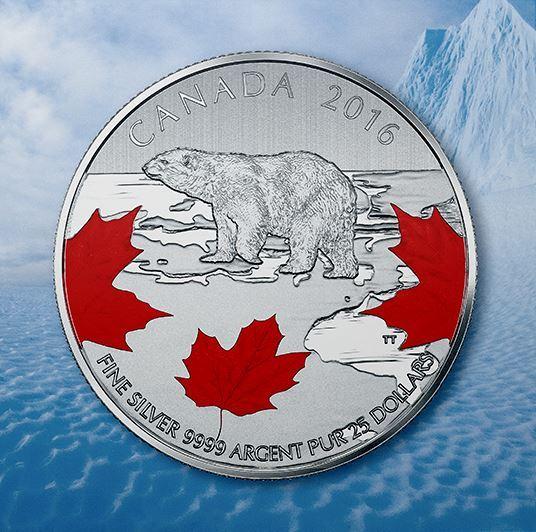 $25 Fine Silver Coin – True North (2016)