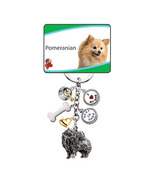 Little Gifts Silver and Gold Plated Pomeranian Dog Keychain Keyring Silver Plate - $10.99