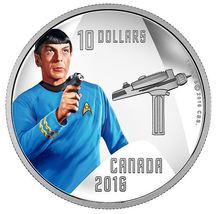 $10 1/2 oz Pure Silver Color Coin - Star Trek Crew: Spock (2016) - $85.00