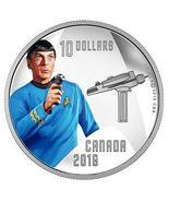 $10 1/2 oz Pure Silver Color Coin - Star Trek Crew: Spock (2016) - $85.00