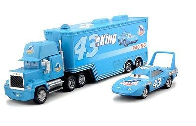 Disney Pixar Cars Diecast No.43 The King Hauler Mack Cars Plastic Truck Kids Toy