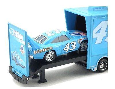 Disney Pixar Cars Diecast No.43 The King Hauler Mack Cars Plastic Truck Kids Toy image 4