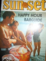 The Sunset Happy Hour Southern Comfort Barguide Mixed Drinks Recipe Booklet 1973 - $8.99
