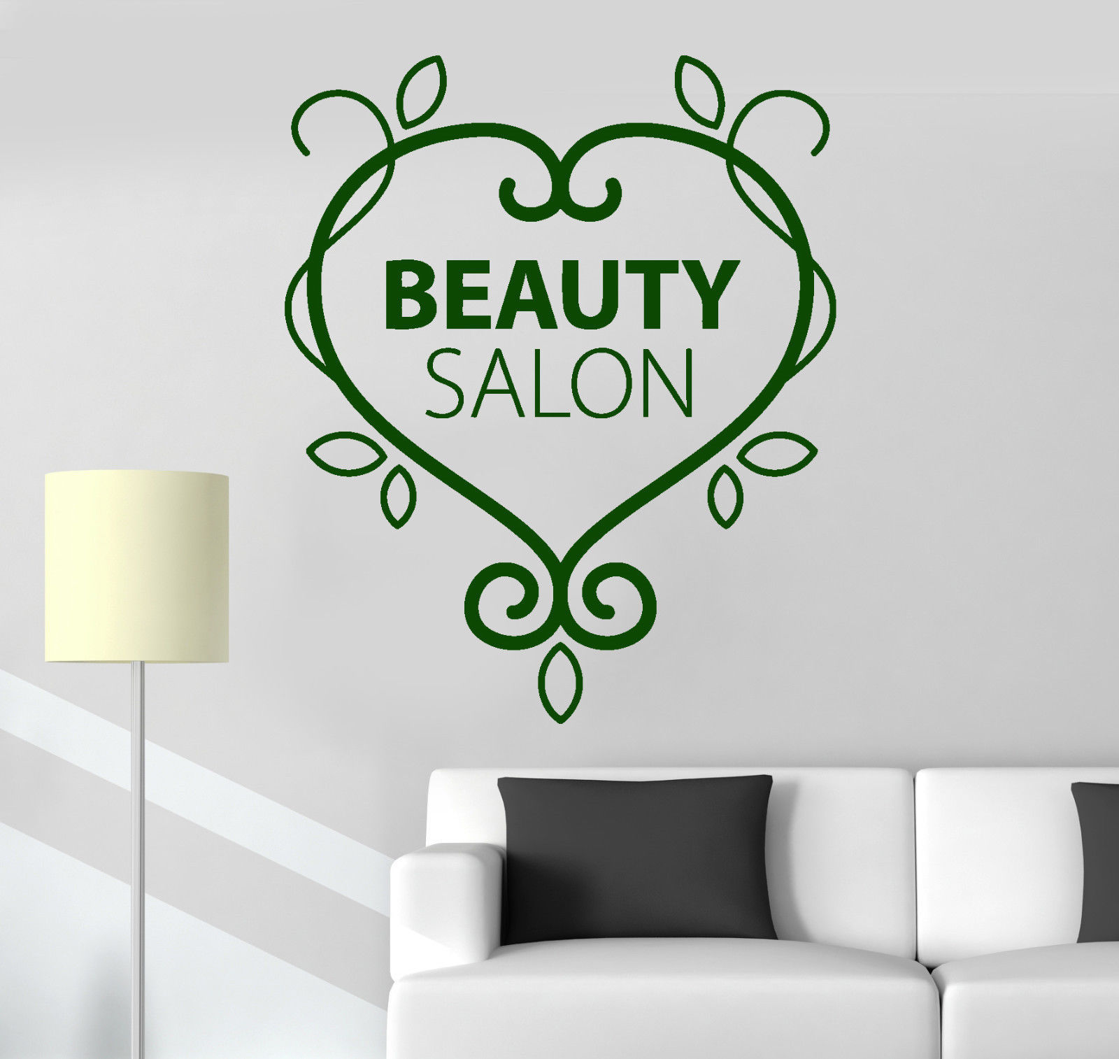 vinyl wall decal beauty salon logo pattern spa woman. Black Bedroom Furniture Sets. Home Design Ideas