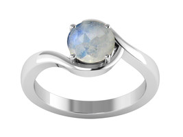 Shiney Rainbow Moonstone Solid 925 Sterling Silver Jewelry Ring Sz 6.5  ... - £11.16 GBP