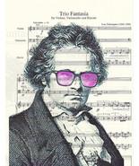 Art N Words Ludwig van Beethoven Wears Ray Ban Original Music Page Pop A... - $21.00