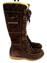 Timberland Earth Keepers Women's Tall Brown Suede Waterproof Boots Size ... - $74.24