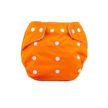 Cute Baby Diaper Cover One Size Diaper Cover with Snap Closure (3-13KG,Orange)