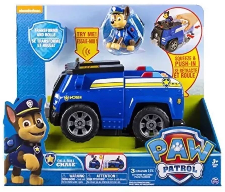 Paw Patrol On a Roll Chase, Figure and Vehicle with Sounds [New]