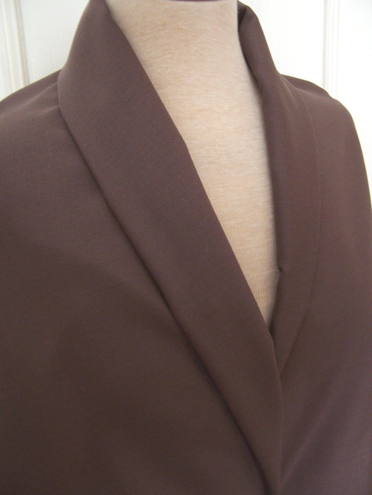 Primary image for 4yd LANIFICIO FERRO BIELLA WARM BROWN SUPER 180 CASHMERE WOOL GABARDINE FABRIC
