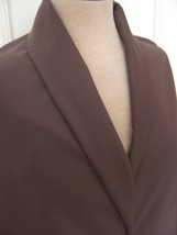 4yd LANIFICIO FERRO BIELLA WARM BROWN SUPER 180 CASHMERE WOOL GABARDINE ... - $160.00