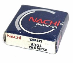 FACTORY SEALED NACHI 6304 BALL BEARING RADIAL OPEN 20MM BORE 52MM OD