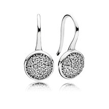 925 Sterling Silver Dazzling Droplets with Clear CZ Hook Earrings QJCB1069 - $21.99