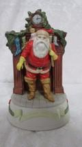 Enesco The Santa Claus Shoppe 1987 Musical Figu... - $12.86