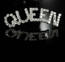 "Queen Brooch Rhinestone Brooch Vintage Drag Queen brooch 2 1/2"" pin brid... - $85.00"