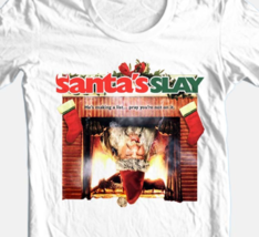 Santa's Slay T-shirt Christmas horror slasher movie 100% cotton white tee image 3